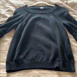 JCrew 3/4 length sleeve black sweater